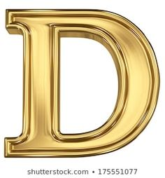 Letter D, Islamic Art Calligraphy, Initials, Royalty Free Stock Photos, Mirror, Illustration, Gold Gold, Marriage, Symbols