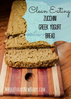 {Clean Eating Zucchini Bread} ... the recipe I've been looking for! Uses oat flour instead of anything else.