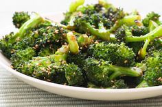 Roasted Broccoli Recipe with Soy Sauce and Sesame Seeds from Kalyn's Kitchen