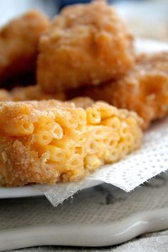 Deep Fried Mac and Cheese Bites. This either sounds really delicious, or like a heart attack...