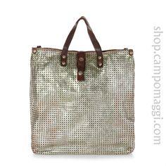 Campomaggi C1263 laminated shopping bag shop.campomaggi.com
