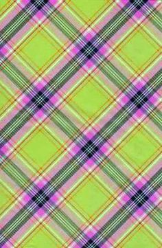 3PK Decopatch Tissue Paper - Green, Pink, White - Plaid #589   3 sheets of decoupage/paper mache/collage paper; acid free