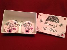 Keepsake Box for Mommy to be... With individual keepsake boxes for baby, or babies in this case... She's having twins!