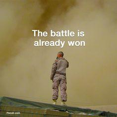 God has fought your battle. Peculr.com - Online Christian Community Battle, Prayers, Community, Christian, God, Baseball Cards, Inspiration, Dios, Biblical Inspiration