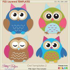 Owl Layered Templates 2 #CUdigitals cudigitals.com cu commercial digital scrap #digiscrap scrapbook graphics