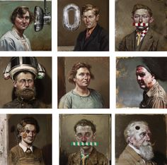 Human Behaviour | 30x30 cm | serie klein portret