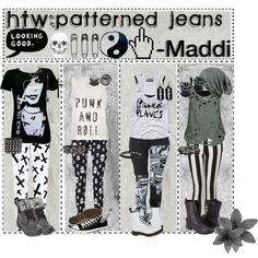 """""""HTW: Patterned Jeans"""" by tips-tips-tipss on Polyvore"""