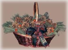 Homemade basket of scented pine cones is easy to make by adding your own spices and greenery.
