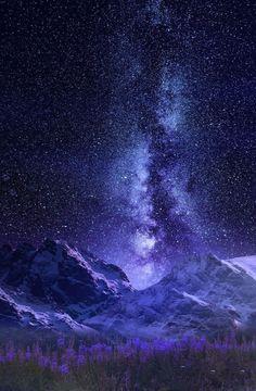 """Night Sky by Jasna Matz """" Beautiful Sky, Beautiful World, Beautiful Landscapes, Night Sky Wallpaper, Galaxy Wallpaper, Landscape Photography, Nature Photography, Photography Backgrounds, Night Photography"""