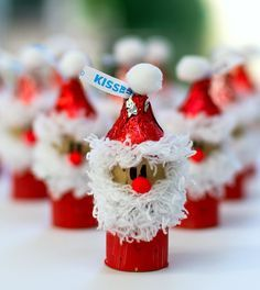 Creative And Easy Christmas Crafts For Kids - Wine Cork Ornaments - Page 4 of 31 - Easy Hairstyles Kids Crafts, Santa Crafts, Noel Christmas, Christmas Crafts For Kids, Christmas Projects, Holiday Crafts, Christmas Decorations, Christmas Ornaments, Christmas Activities