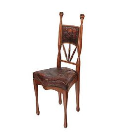 French Art Nouveau Side Chair by, Louis Majorelle - Ophir Gallery