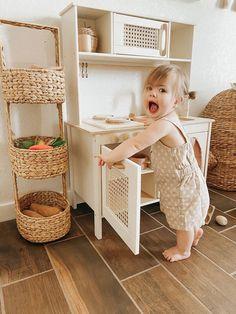 Toddler Play Kitchen, Ikea Play Kitchen, Toddler Rooms, Kitchen Reno, Best Play Kitchen, Diy Kids Kitchen, Wooden Play Kitchen, Duktig, Baby Room Neutral