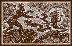 L107 Kamehameha & Pele, 1801 Eruption   Dietrich Varez