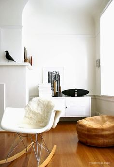 Eames RAR rocker and Ikea PS locker cabinet