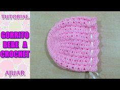 Cómo tejer gorrito para bebé a crochet, ganchillo AJUAR - YouTube