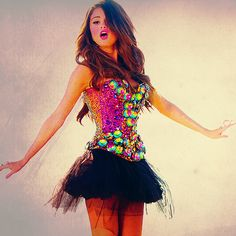 Selena Gomez outfit - @Heather McLaughlin. you need this for wicked.