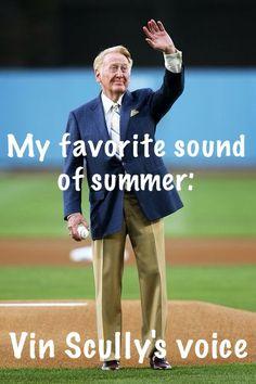 Vin Scully. LA Dodgers.
