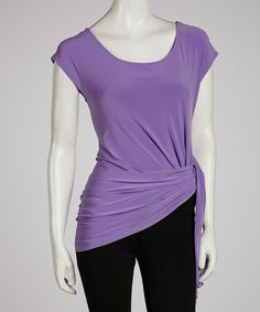 Take a look at this Lilac Tie Tunic by Sharon Max on #zulily today!
