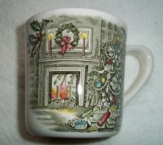 One Vintage Johnson Brothers  Merry Christmas  Pattern Mug & Johnson Brothers China ~ MERRY CHRISTMAS ~ Huge Turkey Platter ...