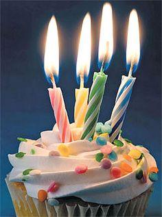 Fourth blogging anniversary! Four Candles. Cupcake! www.myfemalepersuasion.com