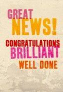 - Great News | Congratulations card | BC1048