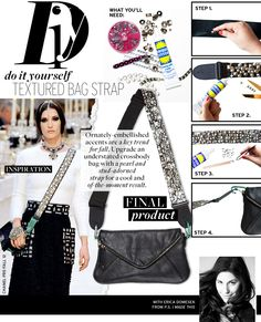 DIY Chanel-inspired embellished bag strap from @P.S.- I made this...