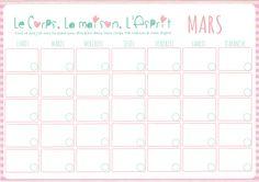 #calendrier perpétuel de #mars à télécharger