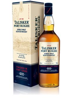 Talisker Port Ruighe Double matured in port casks, this malt is a toast to the Scottish traders who braved the high seas and were instrumental in founding the port wine trade, shipping it to the world. 'Port Ruighe' (pronounced 'Portree') is the Gaelic spelling of the once bustling trading port on Skye. The Port finish combines TALISKER'S powerful maritime character with succulent sweet notes of rich berry fruits for a superb contrasting taste experience.