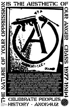Crass (1977-1984) was a group of artists, activists, writers, filmmakers, and musicians that banded ...