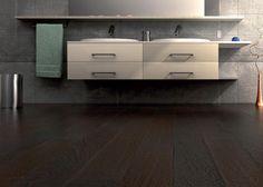Pavimenti prefiniti in legno plus - tavolato wengè spazzolato, verniciato.