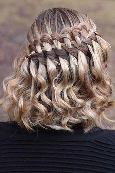 Cute Braided Hairstyles, Cute Simple Hairstyles, Cute Hairstyles For Medium Hair, Braids For Short Hair, Bride Hairstyles, Medium Hair Styles, Curly Hair Styles, Hairstyles Haircuts, Hairdos