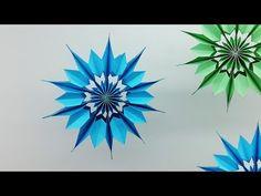 Mini Paper Snowflakes DIY - How to Make Christmas Snowflake for Homemade - Yo. Diy Christmas Snowflakes, 3d Paper Snowflakes, Snowflake Decorations, Christmas Origami, Paper Stars, Christmas Crafts, Diy Paper, Paper Crafts, Snow Flakes Diy