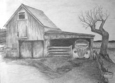 landscape drawing drawings sketches barn easy pencil landscapes beginners draw scenery sketch class simple deviantart sketching charcoal coloring nature pages