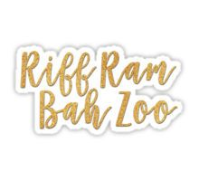 Riff Ram Bah Zoo Sticker