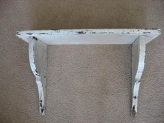Awesome Old Vintage Architectural Wall Wood Shelf Chippy Paint Corbel Brackets | eBay