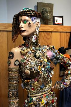 Junk art Mannequin by OH306, via Flickr/multi media and technique