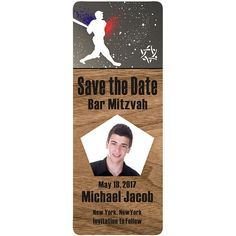 Bar Mitzvah Party Announcement Invitation by MainStreetMagnets, $1.00