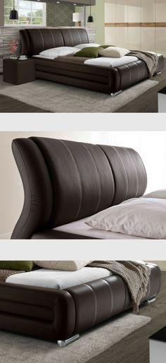 Modernes Polsterbett Mit Ergonomischem Kopfteil. #ergonomisch # Schlafzimmerideen #schlafen #schlafzimmerinspiration