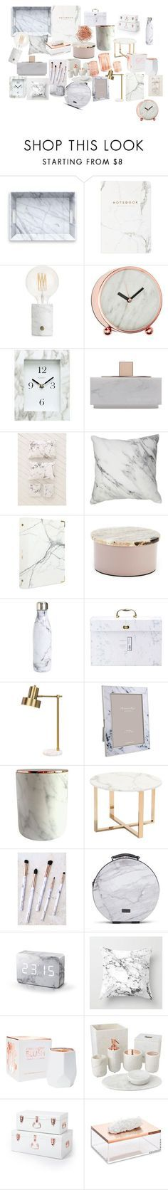 """""""marble rose gold"""" by alilaforce on Polyvore featuring interior, interiors, interior design, home, home decor, interior decorating, A by Amara, Chaney, Native Union and Urban Outfitters"""