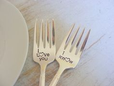 Star Wars themed Wedding Forks by BabyPuppyDesigns on Etsy, $34.00