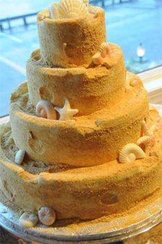 Beach Themed Wedding Cake Ideas