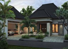 Elegant And Cozy Home Desain Ideas 11 Minimalist House Design, Minimalist Decor, Modern House Design, Dream Home Design, My Dream Home, Style Bali, Kerala House Design, Bungalow House Design, House Front