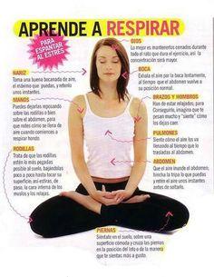 Aprende a respirar para aliviar el estrés. #infografia #estres