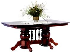 Gorgeous Avalon style double Liberty pedestal table. Crafted in the heart of Amish Country in Ohio.