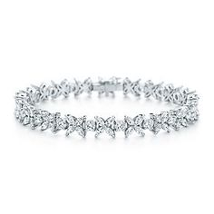 Tiffany Co. - Edwardian-style Bracelet: A bracelet of Montana sapphires, an American gemstone Tiffany made fashionable, with Keshi pearls and diamonds set in platinum.