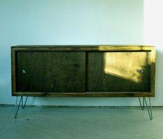 Rustic-Modern Cedar Credenza