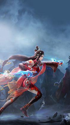 Fantasy Art Men, Fantasy Warrior, Fantasy Girl, Art Anime, Anime Art Girl, Anime Girls, Female Character Design, Character Art, Fantasy Characters