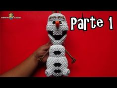 3D origami Olaf tutorial part1 - YouTube