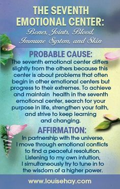The Seventh #Emotional Center ~Chronic and Degenerative Diseases and Life Threatening Illness.