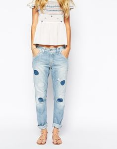 Pepe Jeans Boyfriend Jeans With Cut Out Patches